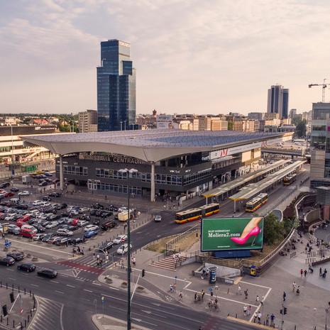 Dworzec Centralny z drona