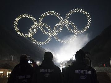 Rój Dronów na otwarciu PyeongChang 2018