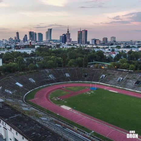 Stadion z drona