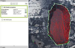 Pomiary geodezyjne hałd kruszywa za pomocą drona