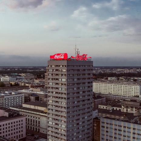 Reklama Coca Coli z drona