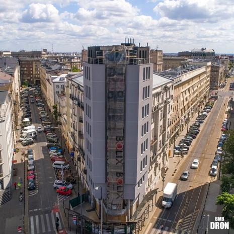Ulice Warszawy z drona