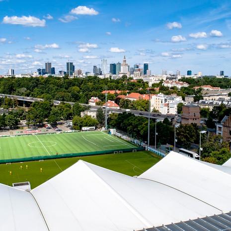 Zdjęcia z drona z nad stadionu Legii Warszawa