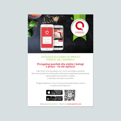 Projekt ulotki dla Aplikacji Quertes