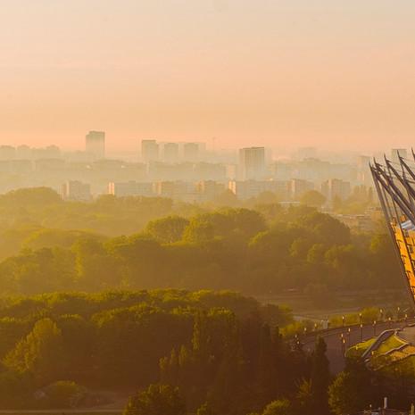 Stadion narodowy z drona Inspire 2 X5S.j