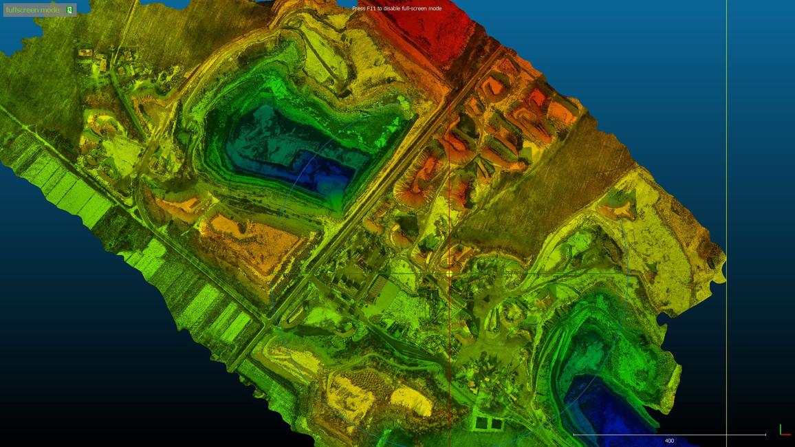 Pomiary przestrzenne z drona.