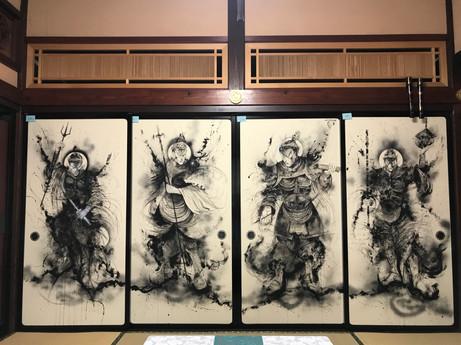 四天王襖絵