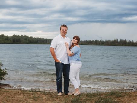 Morin Lake Couple Session: Jessica + Dave