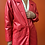 Thumbnail: Red Leather Trench Coat