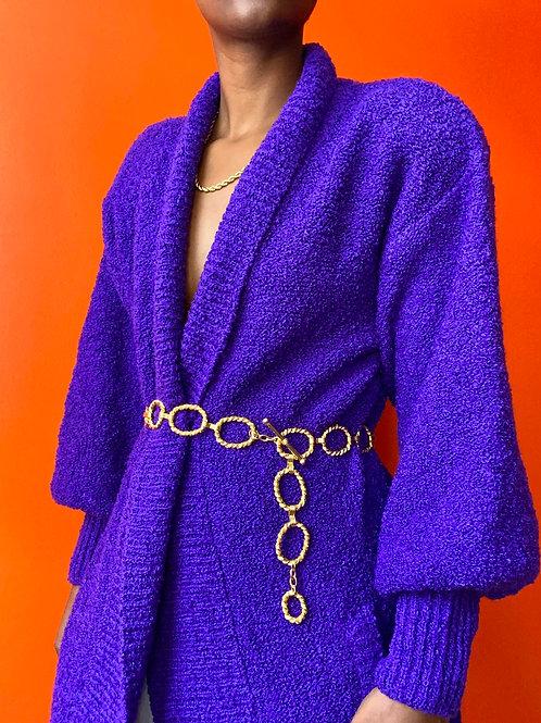 Purple Acrylic Cardigan