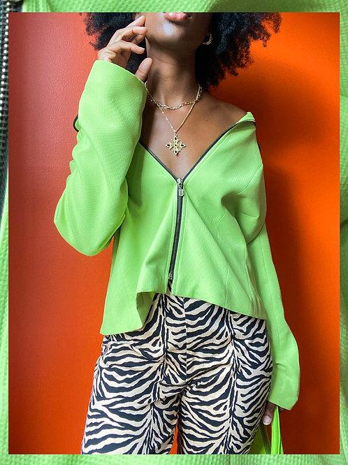 Green Zipper Jacket