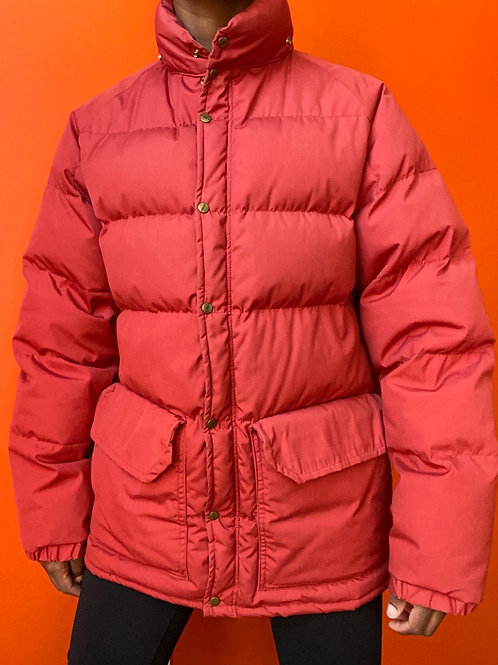 Vermilion Down Puffer Coat