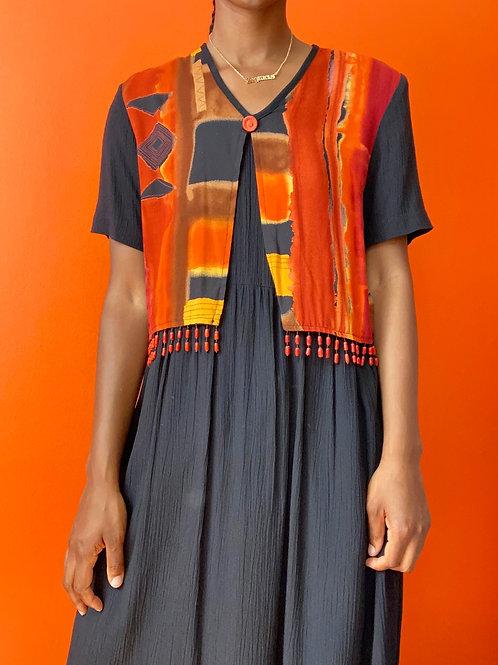 90's Sunset Vest Dress