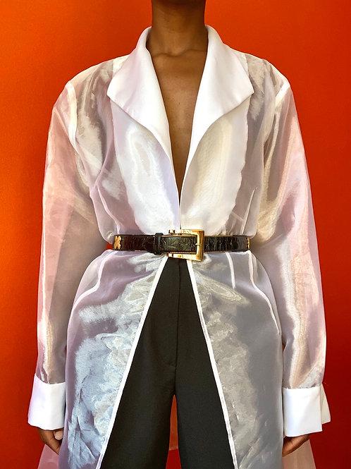 White Sheer Organza Jacket