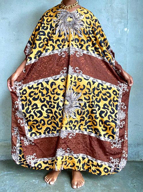 Cheetah Print Satin Muumuu