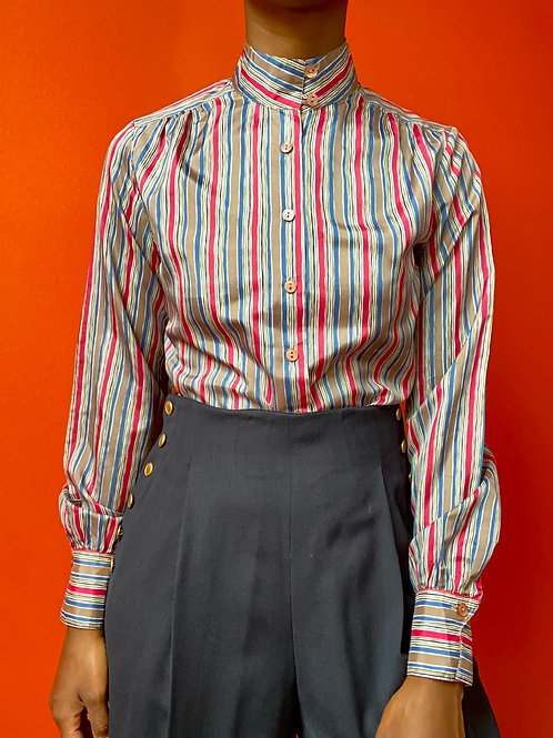 Polyester Striped Blouse