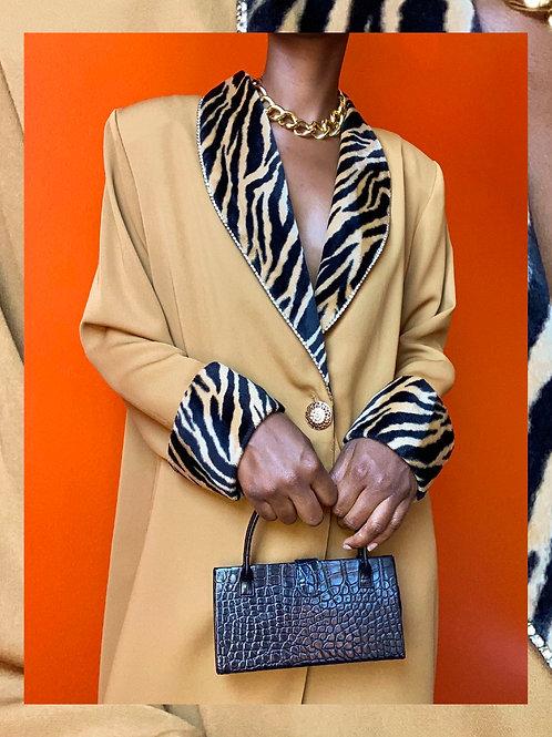 Tiger Print Ankle Length Blazer