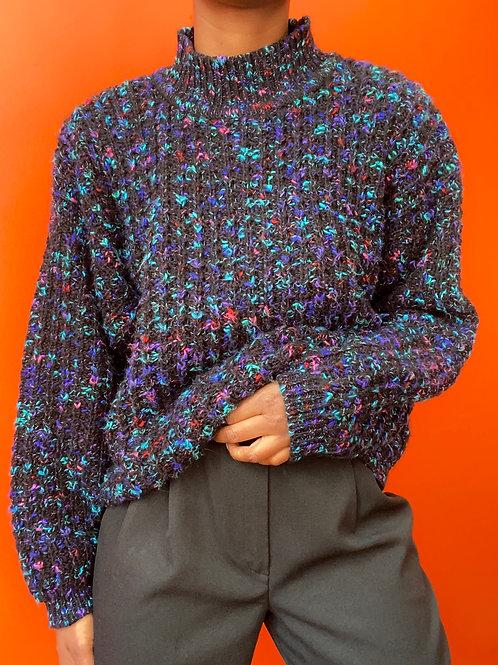 Multicolored Acrylic Wool Sweater