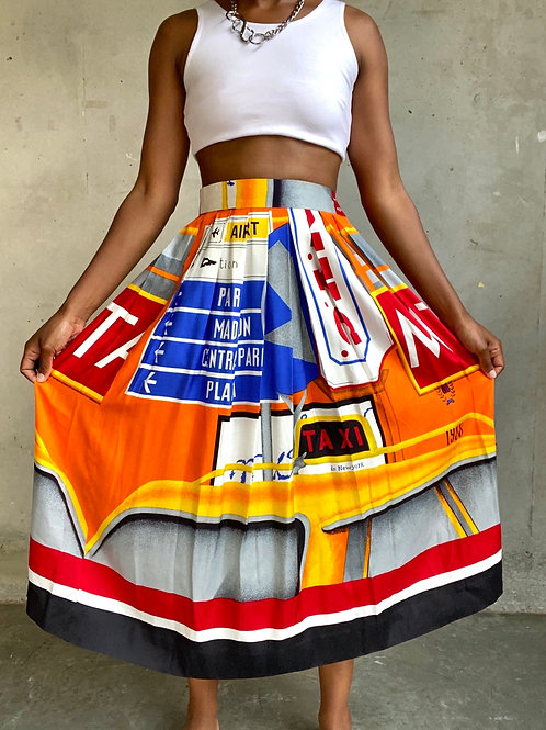 NYC Pleated Ankle Skirt