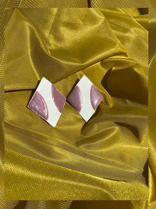 Pink & White Diamond Earrings