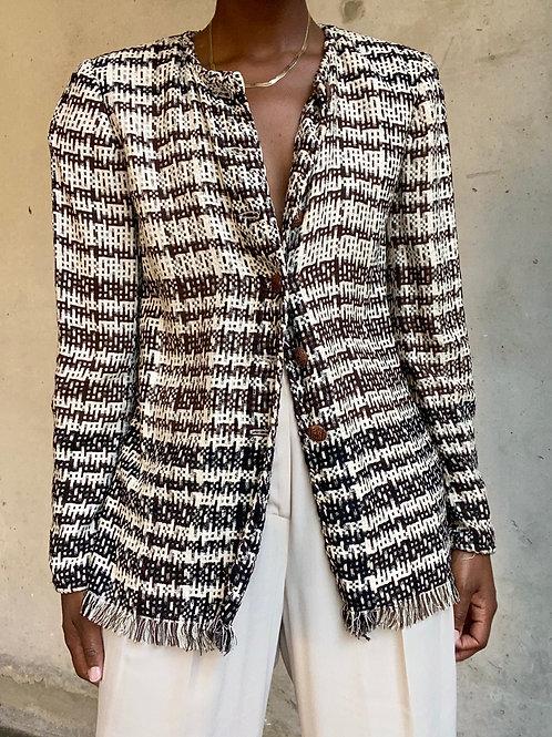 Ungaro Tweed Pattern Evening Jacket