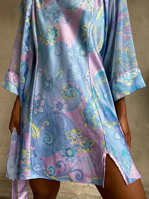 Paisley Print Robe Set