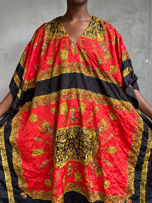 Black & Red Baroque Muumuu