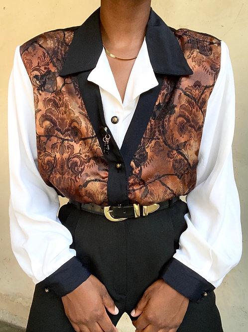 Bronze Button Down Shirt  Vest