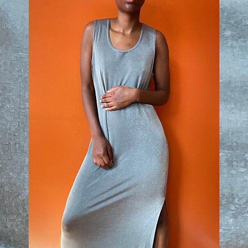 Olive Bodycon Slit Dress