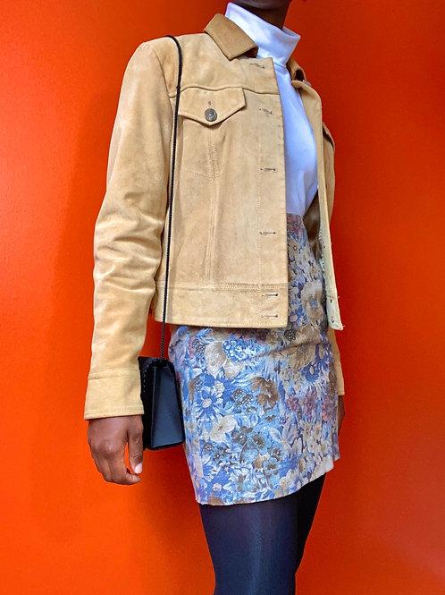 Floral Linen Mini Skirt