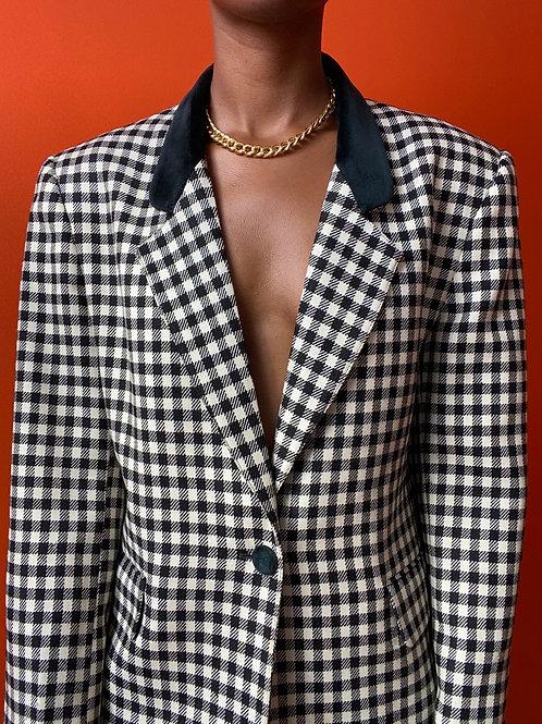 B&W Checkered Blazer