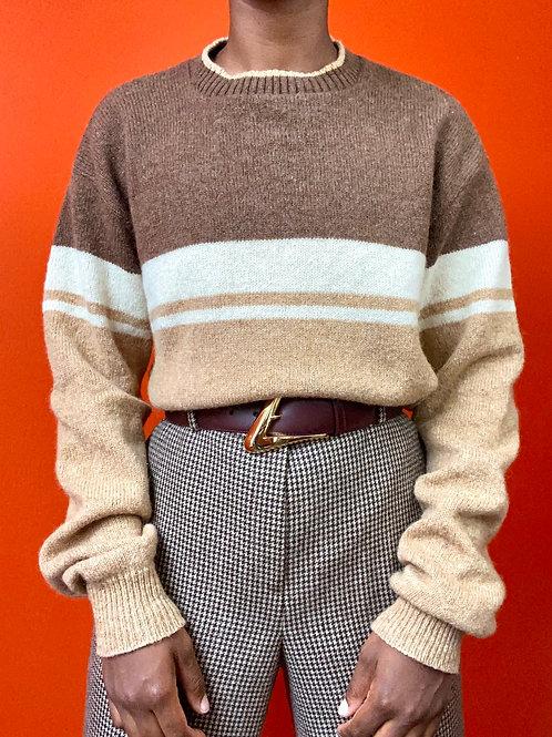 Brown Multicolored Sweater