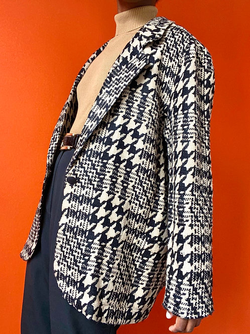 Tan & Black Houndstooth Blazer