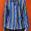 Thumbnail: Blue Striped Tie Neck Button Down