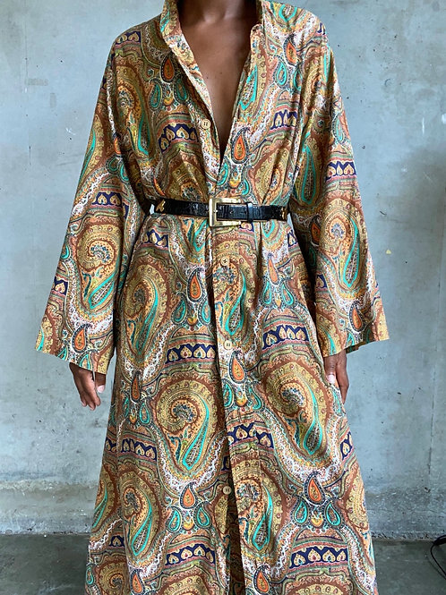 Paisley Print Robe