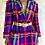Thumbnail: Purple Plaid Multicolored Blazer