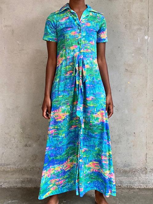 "Lilly Pond ""Monet"" Impressionist Dress"