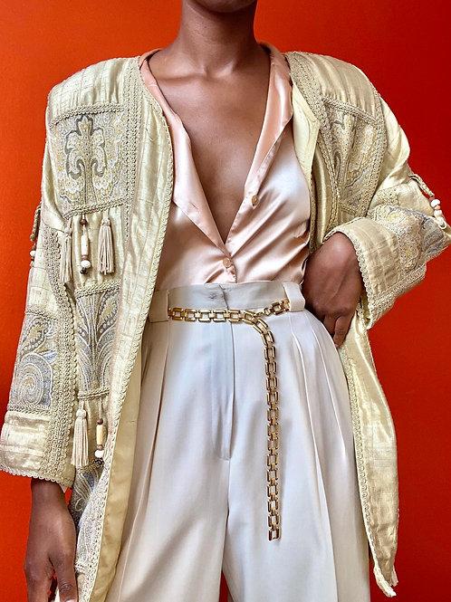 Silk Beaded Tassel Jacket