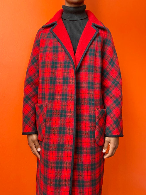 English Plaid Wool Jacket