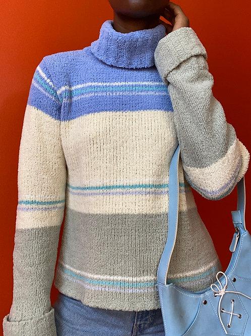 Multi Color Turtleneck Sweater