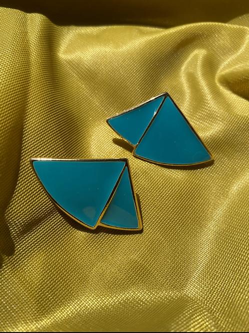 Turquoise Fan Earrings