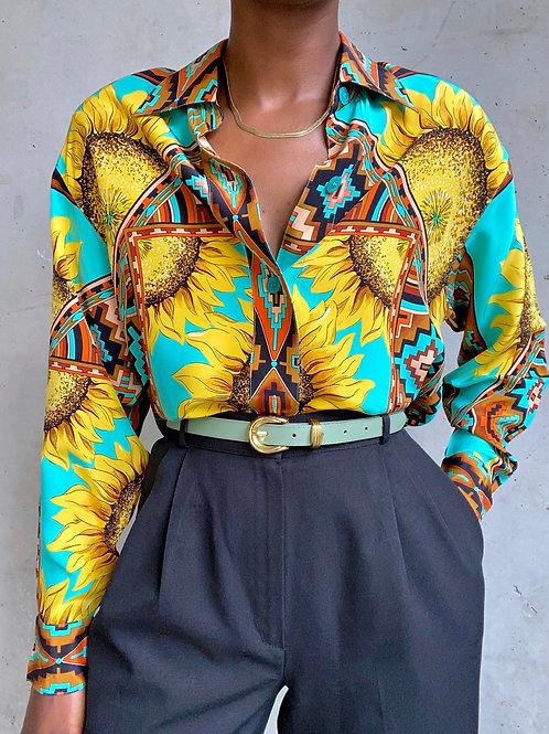 Silk Sunflower Blouse