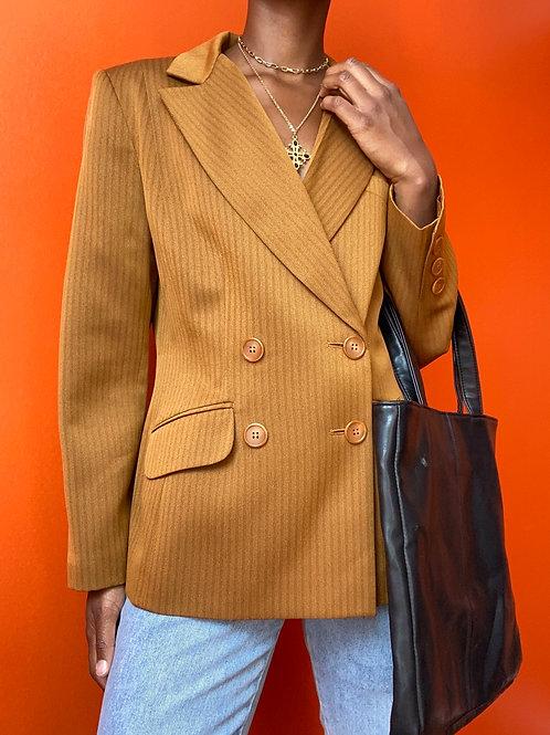 Tan Buttoned Blazer
