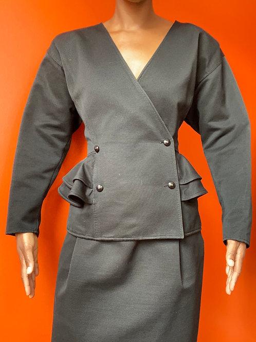 Black Ungaro Skirt Suit