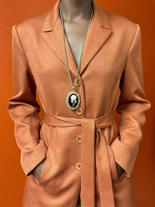 Orange Belted Blazer