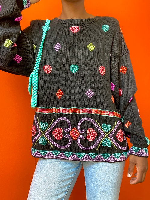Pastel pearl Knit Sweater