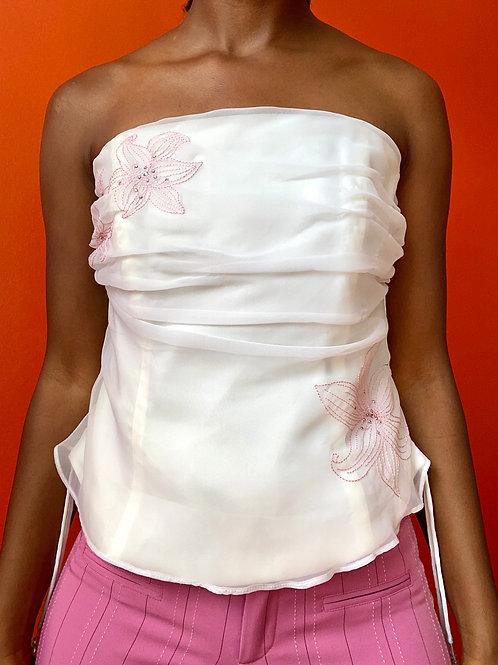 White floral corset