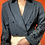 Thumbnail: Cropped embroidered Sleeve Blazer