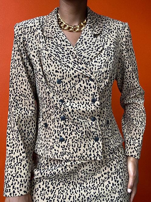 Cheetah Print Skirt Set
