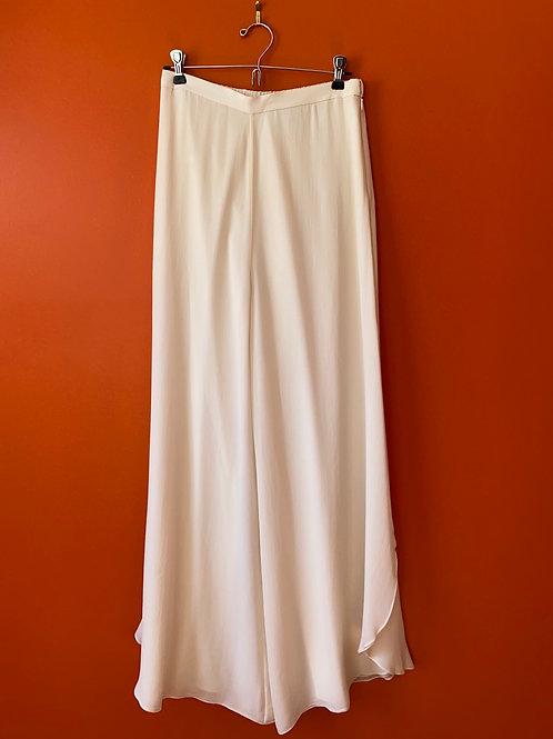 St. John White Silk Pants